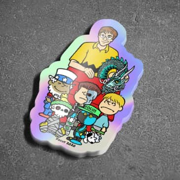 Focus Sea n & Friends Holographic Stickers - 4 pack
