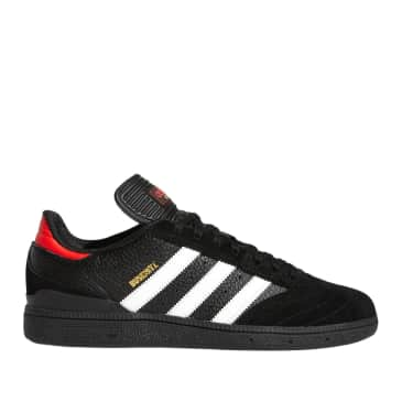 adidas Skateboarding Busenitz Shoes - Core Black / Ftwr White / Vivid Red