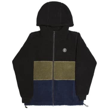 Alltimers Cousin Hooded Fleece Zip Up - Black / Green / Navy