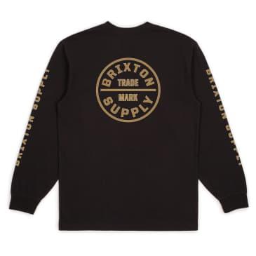 Brixton Oath IV L/S Standard Tee - Black/Gold