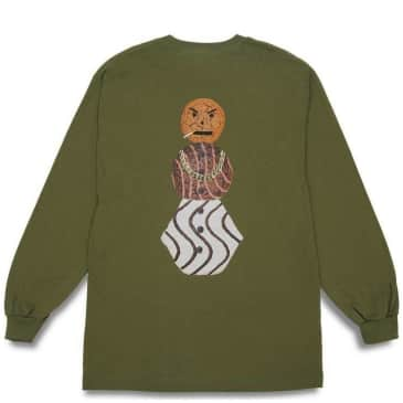 Quartersnacks Snackman Long Sleeve T-Shirt - Olive