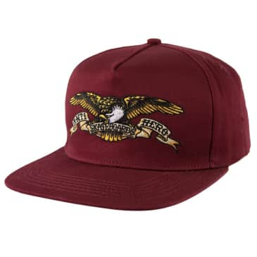 Anti Hero Eagle Snapback Hat Dark Red