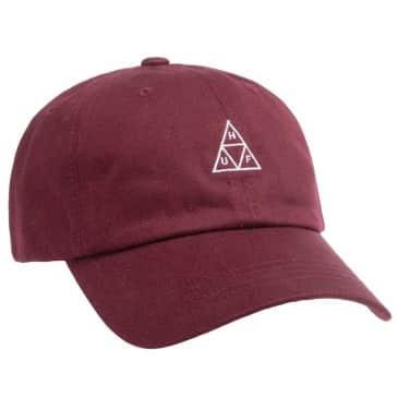 HUF Triple Triangle Curved Visor Cap Oxblood