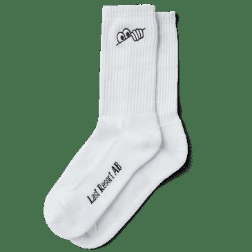 Last Resort AB Eyes Socks - White