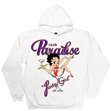 Paradise.NYC Party Girl Hoodie - White