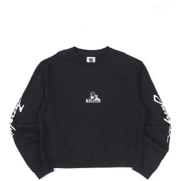 Jungles Triple Logo Crewneck Sweatshirt - Black