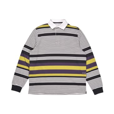 Pop Trading Company Striped Rugby Polo - Multicolor
