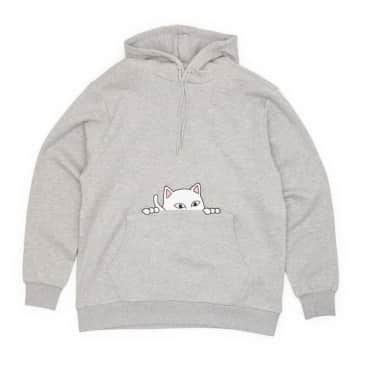 Ripndip - Peeking Nermal Hoodie - Heather Grey
