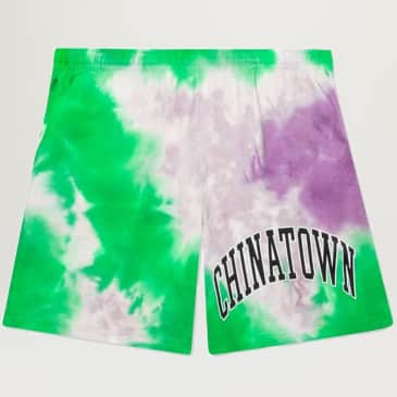 Chinatown Market Arc Left Sweatshorts (Tie Dye Purple)