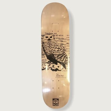 O.W.L Skateboards Snowy Owl Deck - 8.25""