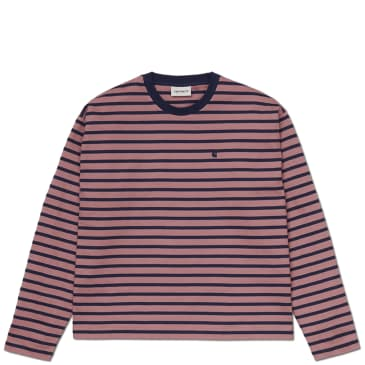 Carhartt WIP Women's Robie Stripe Long Sleeve T-Shirt - Malaga / Space