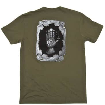Theories of Atlantis Hand Of T-Shirt - Olive
