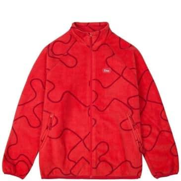 Dime Puzzle Polar Fleece - Red