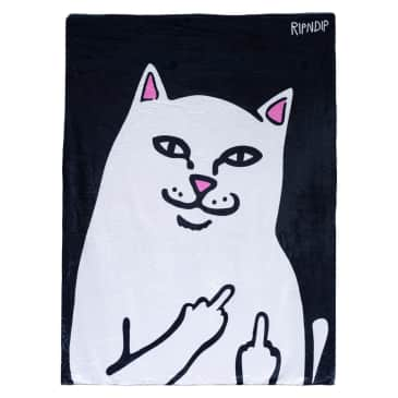 Rip N Dip Lord Nermal Throw Blanket - Black