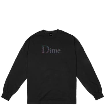 Dime Scribble Classic Logo Long Sleeve T-Shirt - Black