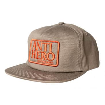 Anti Hero Snapback Hat Reserve Patch Brown/Red