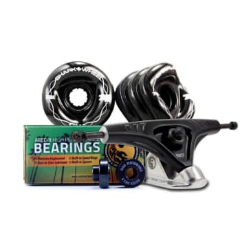 Undercarridge KIT Shark Wheels Pro Series Truck, Bearings & DNA Wheel Set - 72mm, 78a Black