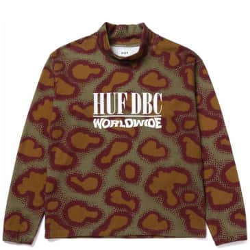 HUF Network French Terry Crew Neck Sweater - Olive