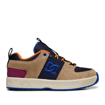 DC Shoes x Paterson Lynx OG Skate Shoes - Blue / Tan