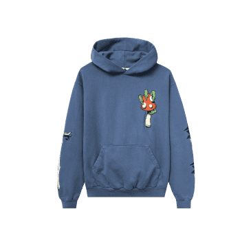 Real Bad Man Shroom Sword Hoodie - Slate