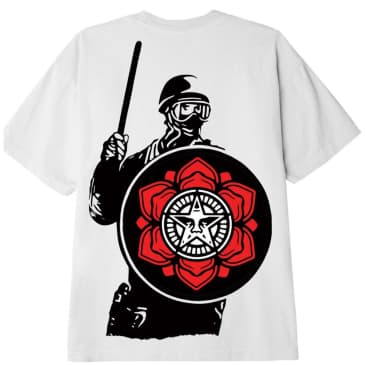 OBEY Riot Cop Peace Shield T-Shirt - White
