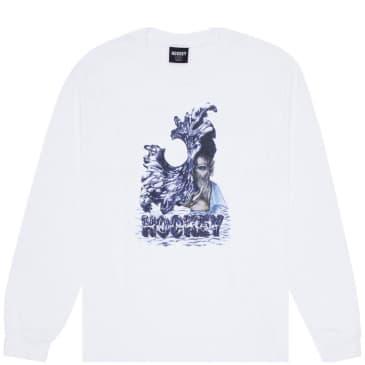 Hockey Liquid Metal Long Sleeve T-Shirt - White