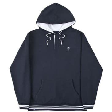 Hélas Buttoned Hoodie - Navy