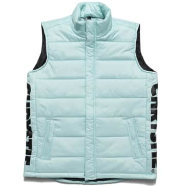 Chrystie NYC OG Logo Puffer Vest - Light Blue