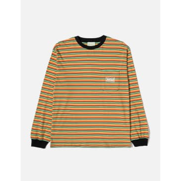 Aries Striped Temple Long Sleeved T-Shirt - Yellow