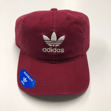 ADIDAS WOMENS ORIGINALS RELAXED STRAPBACK COLLEGIATE BURGANDY/WHT