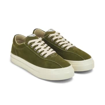 Stepney Workers Club Dellow Mens Suede Shoes - Military