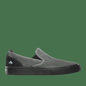 Emerica Wino G6 Slip-On Skate Shoes - Grey / Black / Blue