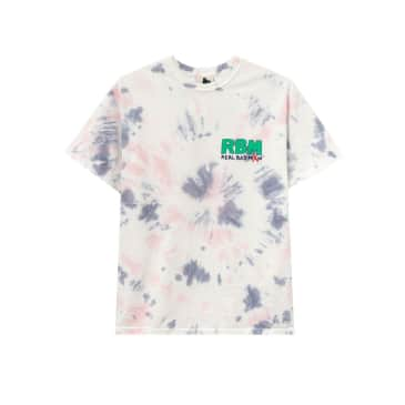 Real Bad Man Who Me? S/S Tee (White/Tie Dye)