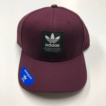 ADIDAS HAT ORIGINALS TL PATCH SNAPBACK MAROON/BLACK/OFFWHITE