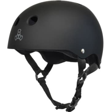 Triple Eight Sweatsaver Helmet All Black Rubber