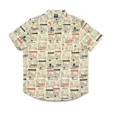 Quartersnacks Vendor Short Sleeve Button Up Shirt - Butter