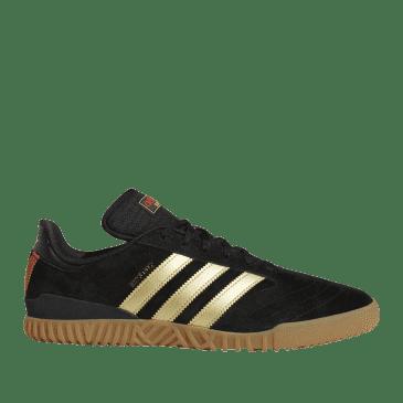 adidas Skateboarding Busenitz Indoor Super Shoes - Core Black / Gold Met / Scarlet