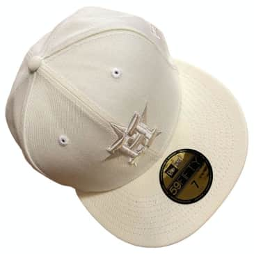 New Era Hat 5950 Houston Astros Team Spring White Fitted 59Fifty