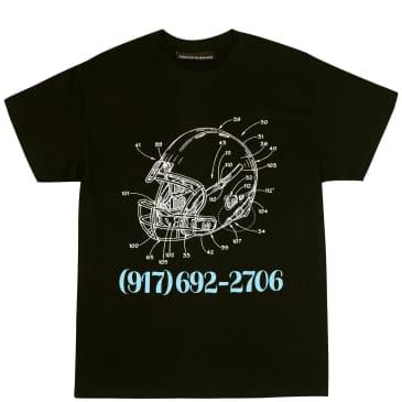 Call Me 917 Football T-Shirt - Black
