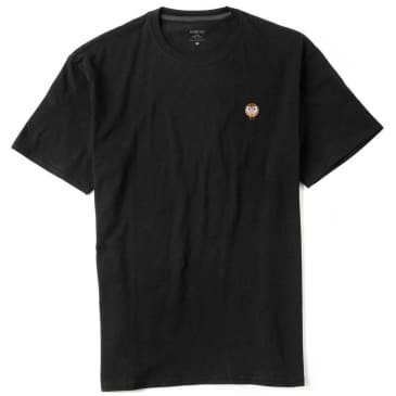 Habitat Skateboards Barn Owl Embroidered T-Shirt - Black