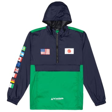 HUF Flags Anorak Jacket | French Navy