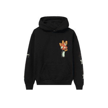 Real Bad Man Shroom Sword Hoodie - Black