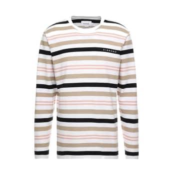 Diamond Supply Co. Marquise Striped Longsleeve T-Shirt - White