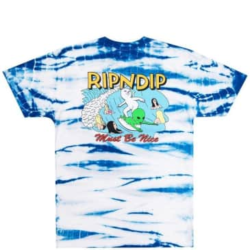Ripndip Hang Ten T-Shirt - Baby Blue Stripe Wash