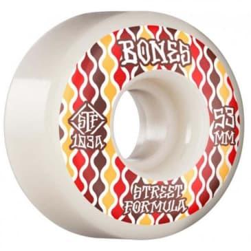 Bones STF Retros 103A V2 Locks Skateboard Wheels White 53mm