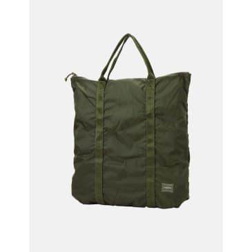 Porter Yoshida & Co Flex 2 Way Tote Bag - Olive Drab