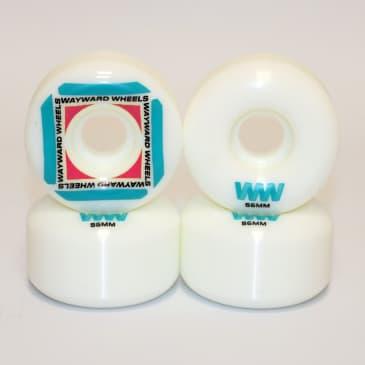 Wayward Wheels Waypoint Blue and Red Skateboard Wheels - 56mm