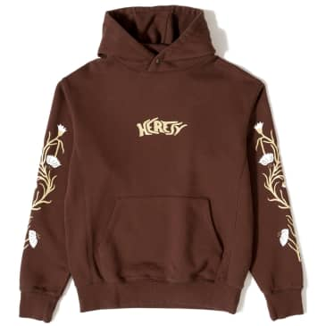 Heresy Planter Heavyweight Hoodie - Brown