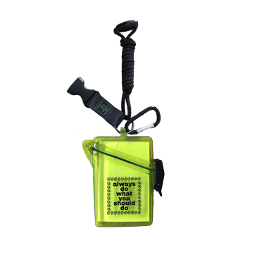 always do what you should do - Lanyard Case - Clear Yellow
