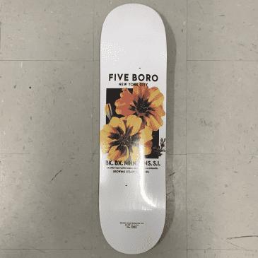 Five Boro Skateboards Flower Seeds Yellow Deck 8.25
